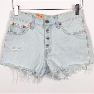 Levi's | 501 Cutoff Denim Shorts Light Wash 25